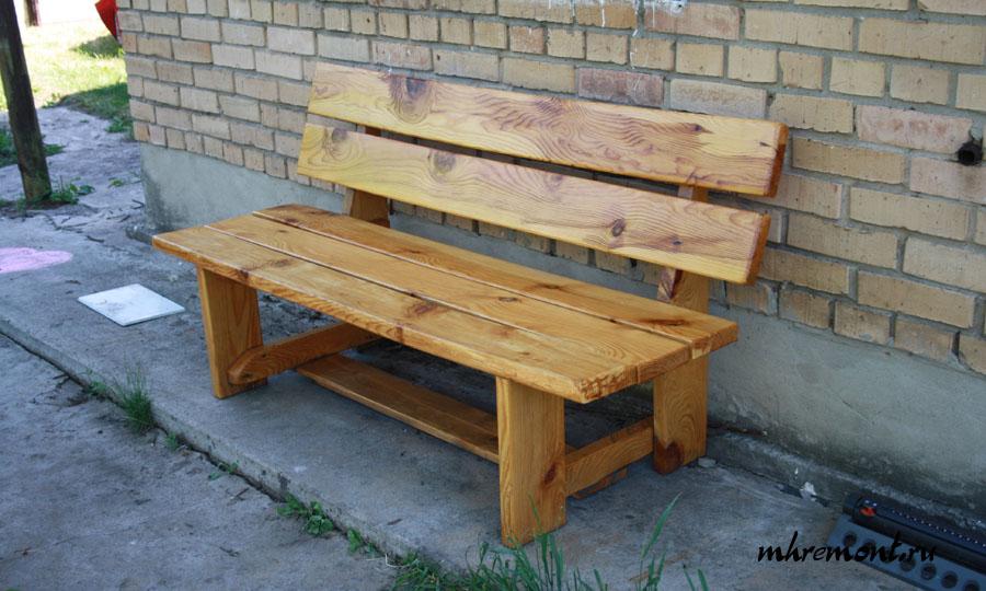 Простая скамейка своими руками фото